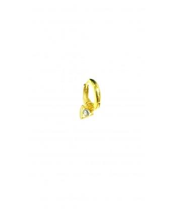 Üçgen Taş Sallantılı Küpe Gold