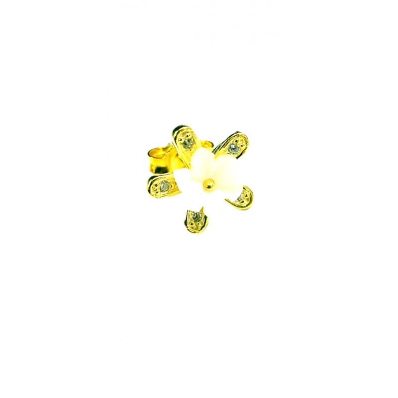 Çiçek Küpe Gold