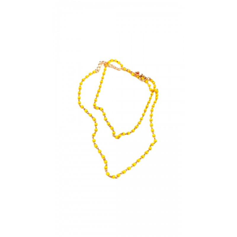 Sarı Boncuk Kolye